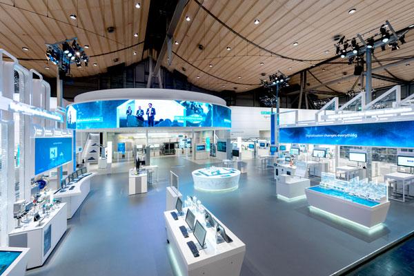 Quickstern Messebau Siemens